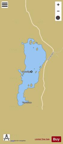 Mosvatnet Fishing Map - i-Boating App