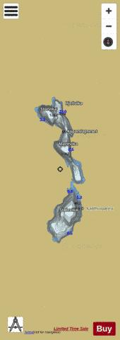 Kaldhussætervatnet Fishing Map - i-Boating App