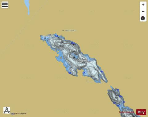 Heimste Veltdalsvatnet Fishing Map - i-Boating App