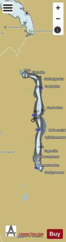 Eikesdalsvatnet Fishing Map - i-Boating App