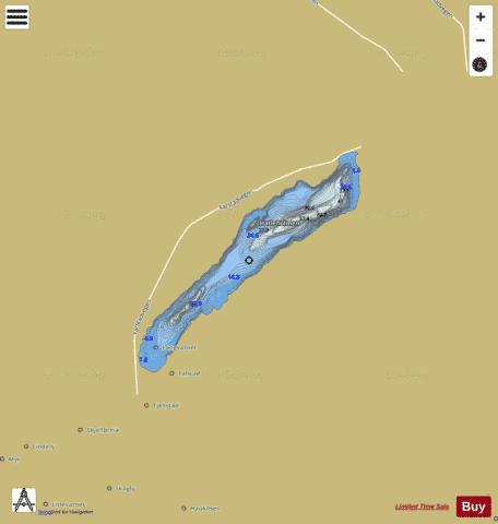 Langvatnet Fishing Map - i-Boating App
