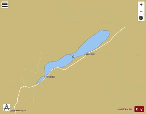 indre Vinjavatnet Fishing Map - i-Boating App