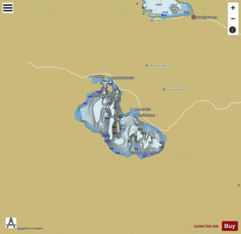 ytre Fisklausvatnet Fishing Map - i-Boating App