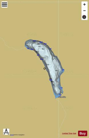 Herdalsvatnet Fishing Map - i-Boating App