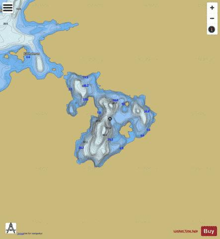 Mellomvatnet Fishing Map - i-Boating App