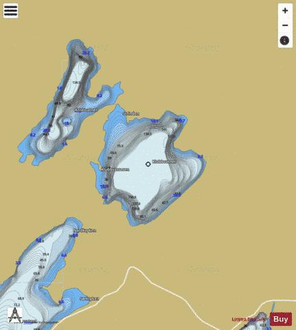 Klubbvatnet Fishing Map - i-Boating App