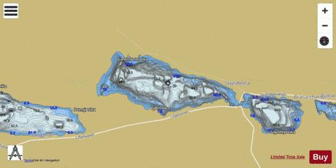 Skjelbreidvatnet Fishing Map - i-Boating App