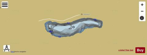 Markavatnet Fishing Map - i-Boating App