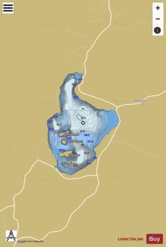 Hostovatnet Fishing Map - i-Boating App