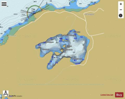 Storvatnet Fishing Map - i-Boating App