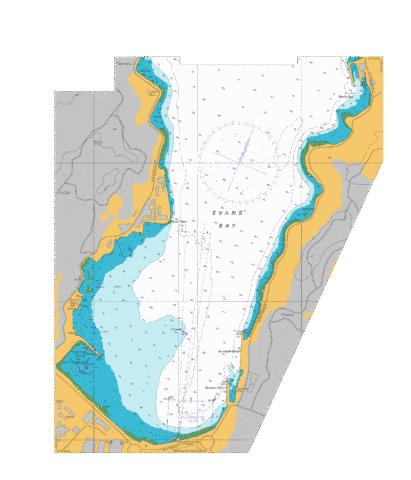 Evans Bay,NU Marine Chart - Nautical Charts App