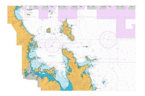 Bream head to slipper island including hauraki gulf nu marine chart