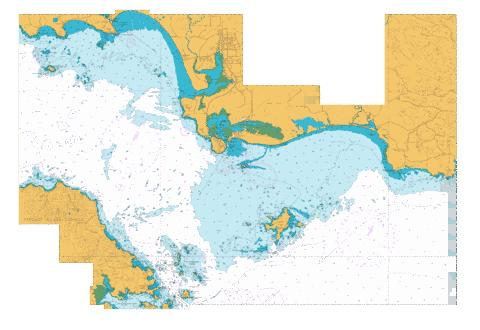 Approaches to Bluff and Riverton/Aparima,NU Marine Chart - Nautical Charts App