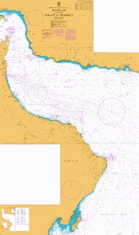 Masirah to the Strait of Hormuz Marine Chart - Nautical Charts App