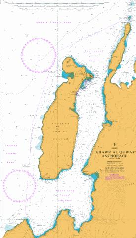 F Khawr al Quway' Anchorage Marine Chart - Nautical Charts App