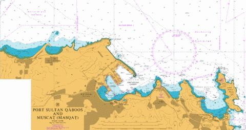 B Port Sultan Qaboos and Muscat (Masqat) Marine Chart - Nautical Charts App
