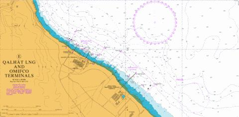 E Qalhat LNG and OMIFCO Terminals Marine Chart - Nautical Charts App