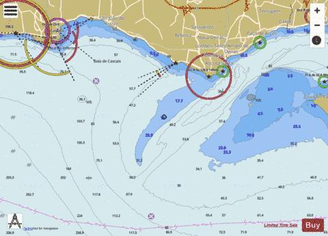 Entrance to Rio Tejo including Baia de Cascais Marine Chart - Nautical Charts App