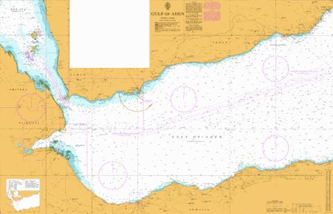 Gulf of Aden Marine Chart - Nautical Charts App