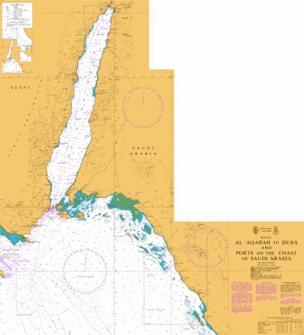 Al Aqabah to Duba and Ports on the Coast of Saudi Arabia Marine Chart - Nautical Charts App