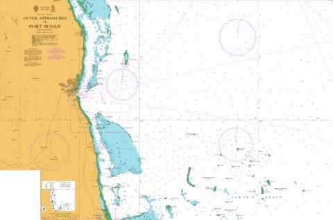 Outer Approaches to Port Sudan Marine Chart - Nautical Charts App