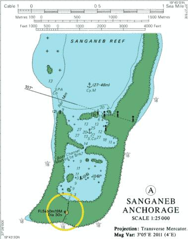 A Sanganeb Anchorage Marine Chart - Nautical Charts App