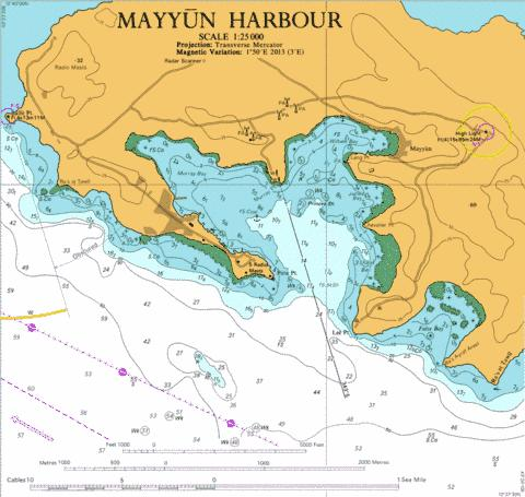 Mayyun Harbour Marine Chart - Nautical Charts App
