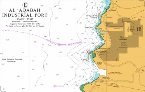 E Al 'Aqabah Industrial Port Marine Chart - Nautical Charts App
