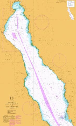 Suez Bay (Bahr al Qulzum) to Ra's Sharatib Marine Chart - Nautical Charts App