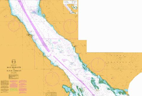 R`as Sharatib to Juzur Ashrafi Marine Chart - Nautical Charts App