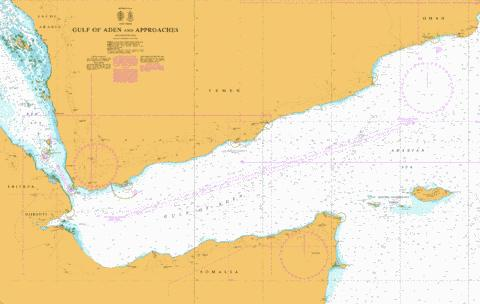 Gulf of Aden and Approaches (Marine Chart : SA_2964_0) | Nautical ...