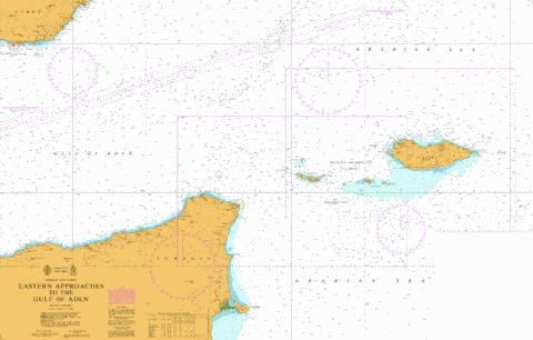 Eastern Approaches to the Gulf of Aden Marine Chart - Nautical Charts App