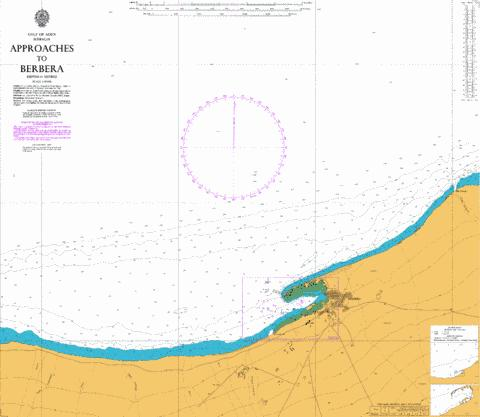 Approaches to Berbera Marine Chart - Nautical Charts App