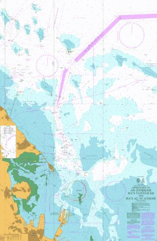 Approaches to Ad Dammam Ra's Tannurah and Ra's al Ju`aymah Marine Chart - Nautical Charts App