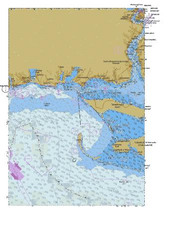 North-Western Part of Black Sea. Yuzhnyi. Dniprovskyi and Buzkyi Firths. Yahorlytska and Tendrivska Gulfs  Marine Chart - Nautical Charts App
