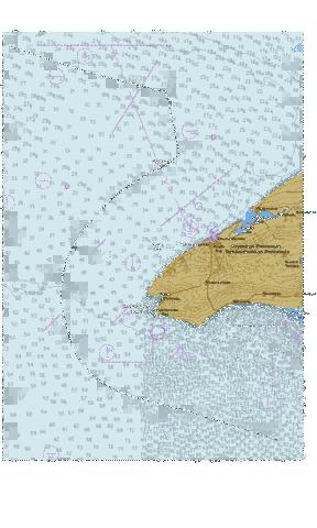 Black Sea. Karkinitska Gulf. Tarkhankutskyi lighthouse  Marine Chart - Nautical Charts App