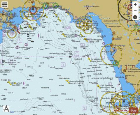 KEY WEST TO THE MISSISSIPPI RIVER Marine Chart - Nautical Charts App
