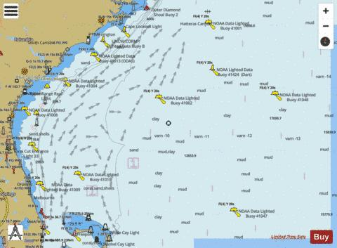 CAPE HATTERAS TO STRAITS OF FLORIDA (Marine Chart