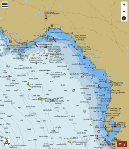 LEASE BLOCK FOR TAMPA BAY TO CAPE SAN BLAS Marine Chart - Nautical Charts App