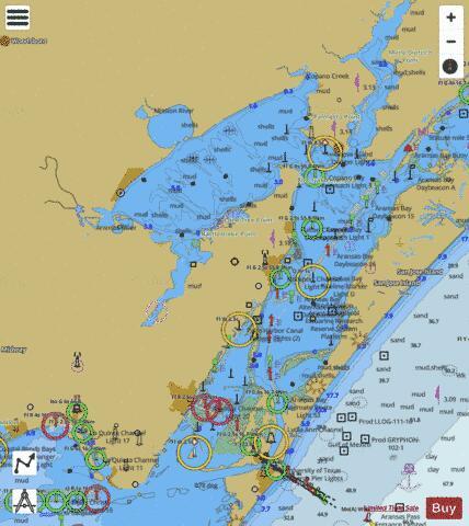Fish-N-Map Redfish Bay Rock port Port Aransas New
