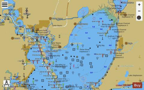 Galveston bay side a marine chart us11326 p90 for Trinity bay fishing