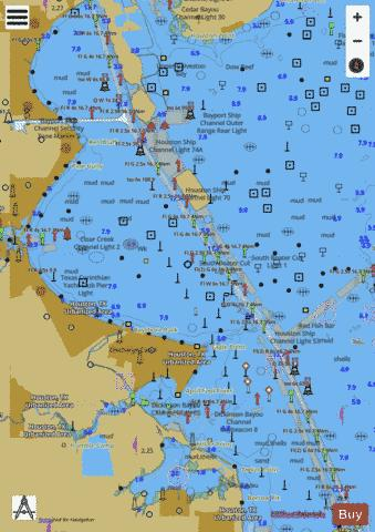 UPPER GALVESTON BAY Marine Chart - Nautical Charts App