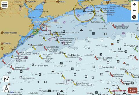 Mermentau Riv To Freeport La Tx Marine Chart Us11330p195