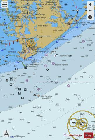 PORT FOURCHON AND APPROACHES Marine Chart - Nautical Charts App