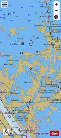 BAPTISTE COLLETTE BAYOU TO MISSISSIPPI RIVER - GULF OUTLET SIDE A Marine Chart - Nautical Charts App