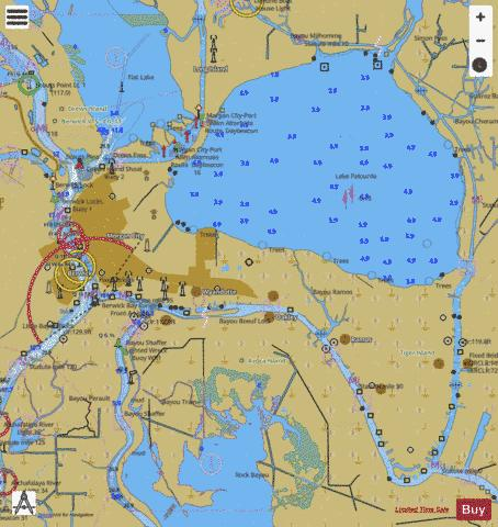 MORGAN CITY INSET SIDE A Marine Chart - Nautical Charts App