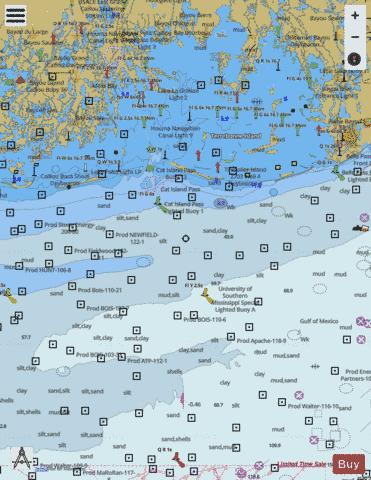 TIMBALIER AND TERREBONNE BAYS Marine Chart - Nautical Charts App