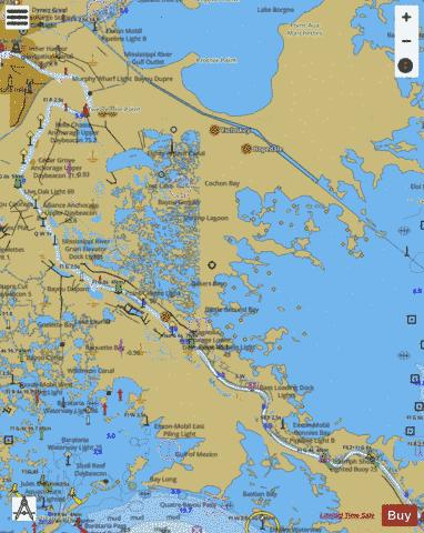 MISSISSIPPI RIVER VENICE TO NEW ORLEANS Marine Chart - Nautical Charts App