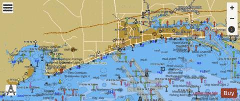 DOG KEYS PASS TO WAVELAND Marine Chart - Nautical Charts App
