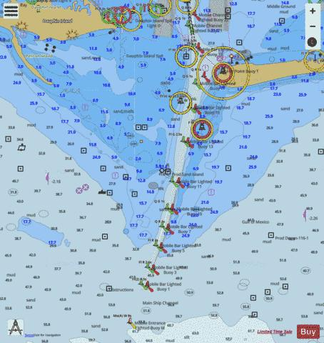 SANTA ROSA SOUND TO DAUPHIN ISLAND LEFT EXTENSION Marine Chart - Nautical Charts App